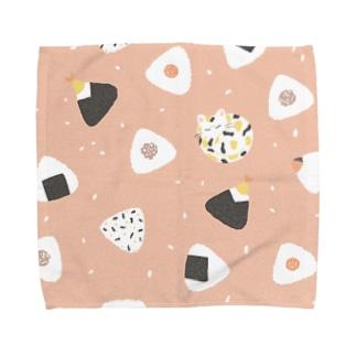 のりたまにゃんこ(ピンク) Towel handkerchiefs