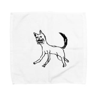 犬ガブガブ Towel handkerchiefs