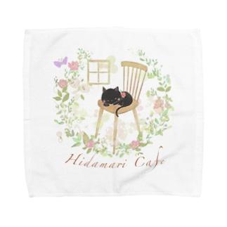ひだまりカフェ くろねこさん Towel handkerchiefs
