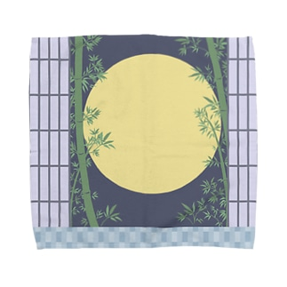 月と竹 Towel handkerchiefs