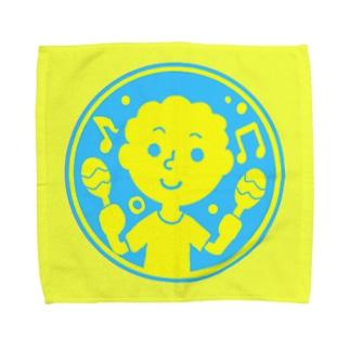 るんるんマラカス【丸型ツートンカラー】 Towel handkerchiefs