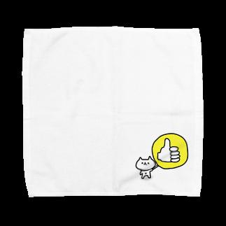 さかなやさんかくのいいねこ Towel handkerchiefs