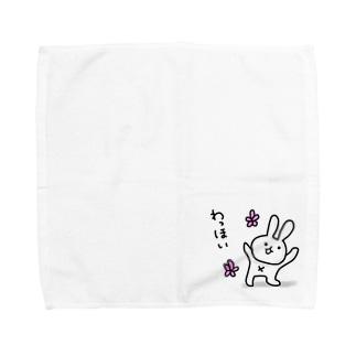 わっほいうさぎ Towel handkerchiefs