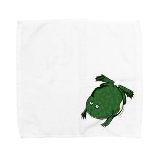 【Lサイズ】すいすいバジェットガエルミニタオル Towel handkerchiefs