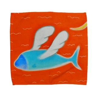 天使を夢見る魚 Towel handkerchiefs
