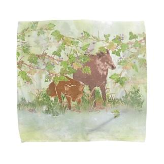 雨の日の過ごし方 Towel handkerchiefs