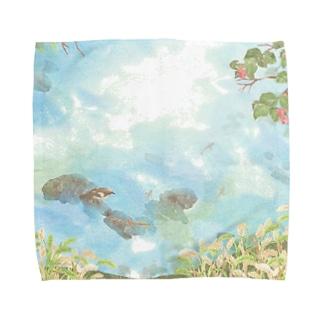 秋風にゆらぐ Towel handkerchiefs