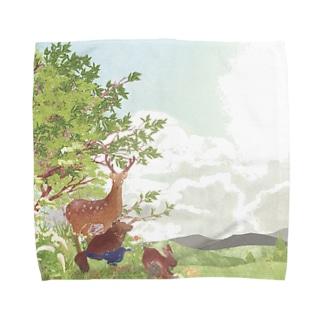 夕立の後 Towel handkerchiefs