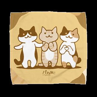 PygmyCat suzuri店の癒してあげ隊ハンカチ Towel handkerchiefs