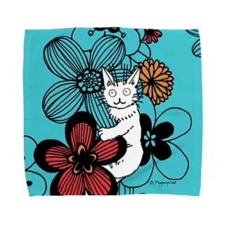 Pygmycat(青) タオルハンカチ