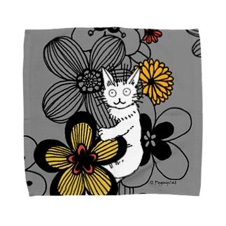 Pygmycat(グレー) タオルハンカチ