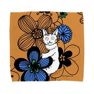 Pygmycat(オレンジ) タオルハンカチ