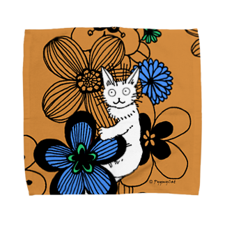 PygmyCat suzuri店のPygmycat(オレンジ) Towel handkerchiefs