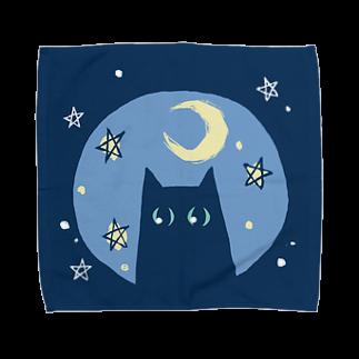 しのの星と猫と月 Towel handkerchiefs