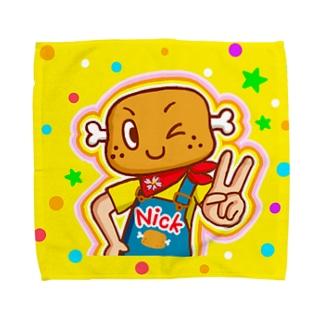 ピース!【ニクニク星人・ニック】 Towel handkerchiefs