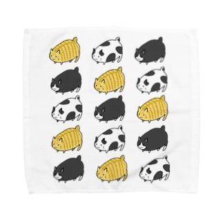南天玉露の店のデブ猫 Towel handkerchiefs