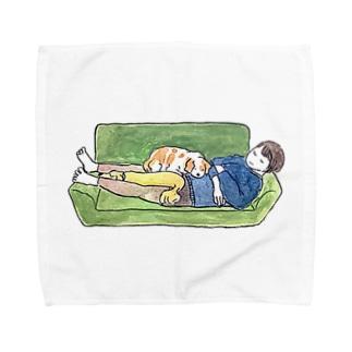 おやすみおかあさんといぬちゃん Towel handkerchiefs