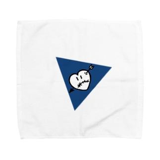 ハートアローくん ブルー Towel handkerchiefs