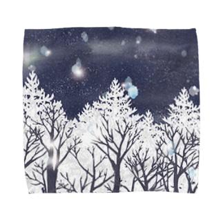雪の輝き Towel handkerchiefs