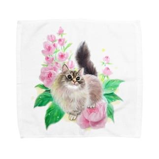 作家名【琴月リュウ】 Towel handkerchiefs