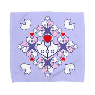 「浪漫花」-ROMANKA-/タオルハンカチ(ラベンダー) Towel handkerchiefs