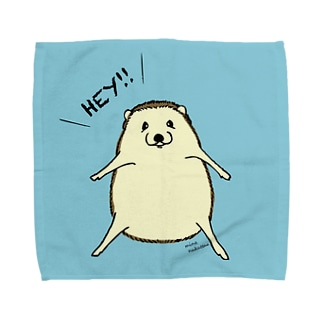 HEY!ハリネズミ(ブルー) タオルハンカチ