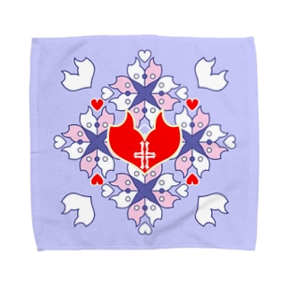 「浪漫花」-QUEEN-/タオルハンカチ(ラベンダー) タオルハンカチ