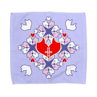 「浪漫花」-QUEEN-/タオルハンカチ(ラベンダー) Towel handkerchiefs