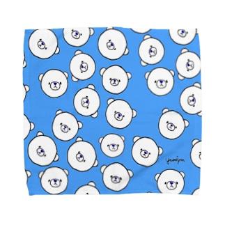 しろくまタオル(あお) Towel handkerchiefs