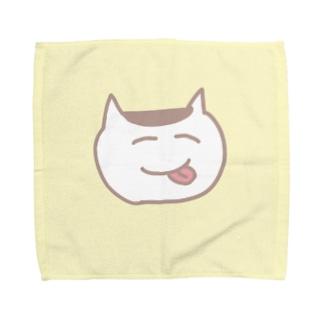 ねこちゃんタオルハンカチ Towel handkerchiefs