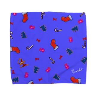 Christmas is just around the corner! -purple- Towel handkerchiefs