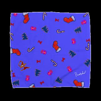BenizakeのChristmas is just around the corner! -purple- Towel handkerchiefs