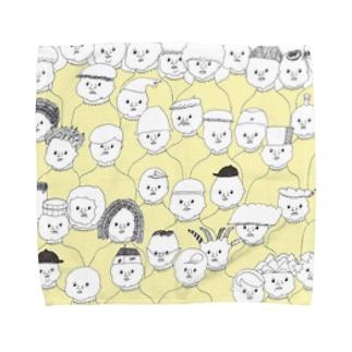 黄色いハイネックのつどい Towel handkerchiefs
