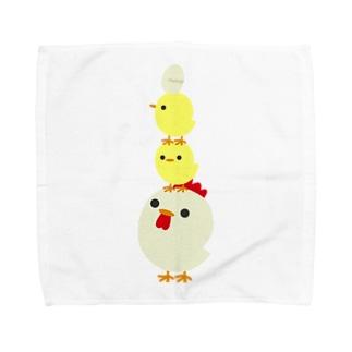 とり Towel handkerchiefs