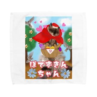 ぽてずきんちゃん Towel handkerchiefs