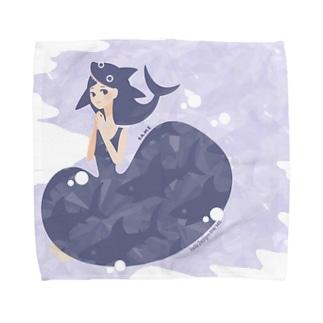 おサメ姫。 喰われ系祈り女子。ミニタオル〈 naminada 016/365 〉 Towel handkerchiefs