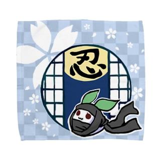 まる雪うさぎ-忍- Towel handkerchiefs