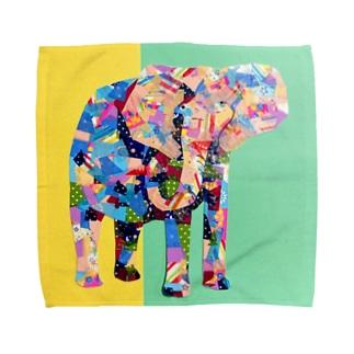 マステの象 Towel handkerchiefs