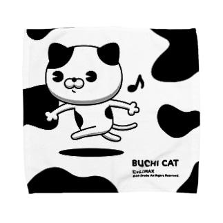 にゃんこMAX(ブチ猫) Towel handkerchiefs