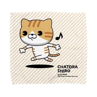 にゃんこMAX(茶トラシロ) Towel handkerchiefs