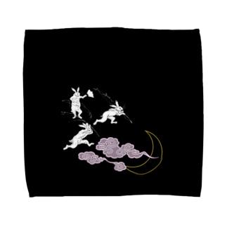 つきうさぎのタオルハンカチ Towel Handkerchief