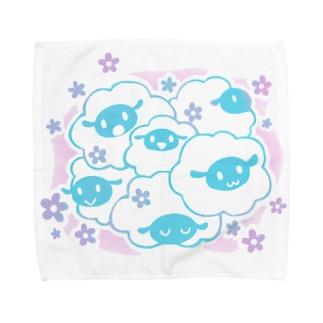 ヒツジとハナ-もふもふ- Towel handkerchiefs