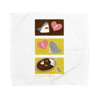 \3コマ絵本/カレーライスとおサメさん〜1 Towel handkerchiefs