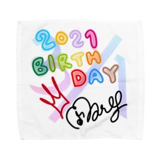 ♪maryバースデー2021ハンカチ(Lサイズ用) Towel handkerchiefs