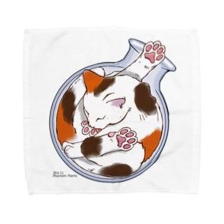 猫は液体 Towel handkerchiefs
