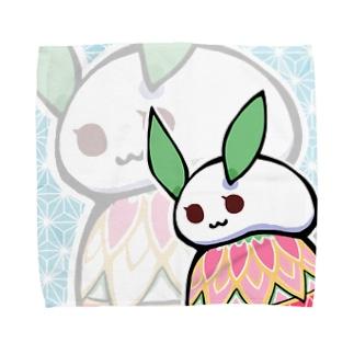 まる雪うさぎ-手鞠- Towel handkerchiefs