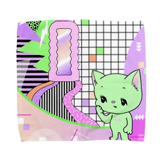 What is cute? メロンクリーム猫さん Towel handkerchiefs