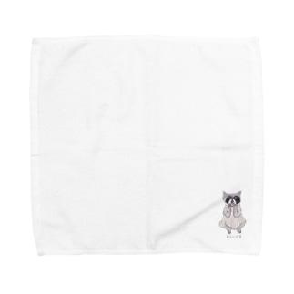 あらいぐま Towel handkerchiefs