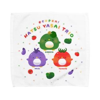 エコペン夏野菜トリオ Towel handkerchiefs