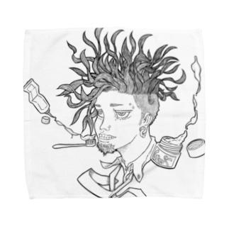 ねぐせじゃっく Towel handkerchiefs